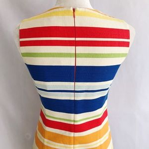 Anthropologie Dresses - Anthro Tabitha Embroidered Striped Shift Dress NEW